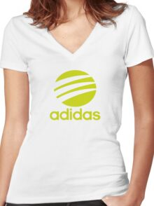 Adidas Women's Fitted V-Neck T-Shirt