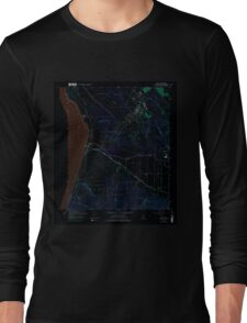 USGS TOPO Map California CA Surf 102613 1959 24000 geo Inverted Long Sleeve T-Shirt