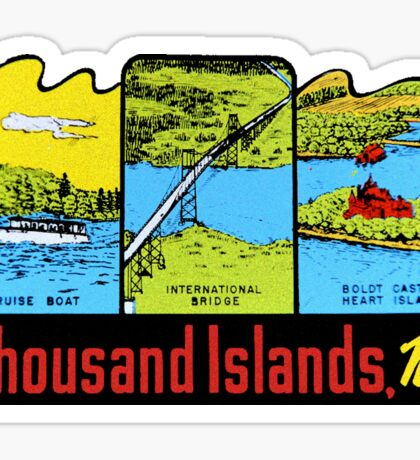 Thousand Islands New York Vintage Travel Decal Sticker