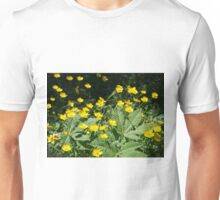 Beautiful yellow wild flowers Unisex T-Shirt