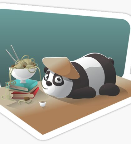 Goofy Panda Sticker