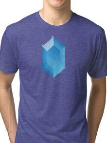 Blue Rupee Paint Tri-blend T-Shirt