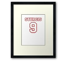 NFL Player Caleb Sturgis nine 9 Framed Print
