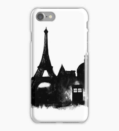Police Box in Paris iPhone Case/Skin