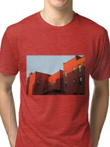 Blue Sky and Orange Building Tri-blend T-Shirt