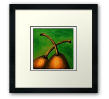 A pair of pears Framed Print