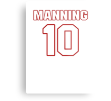 NFL Player Eli Manning ten 10 Metal Print