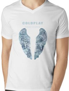 coldplay Mens V-Neck T-Shirt