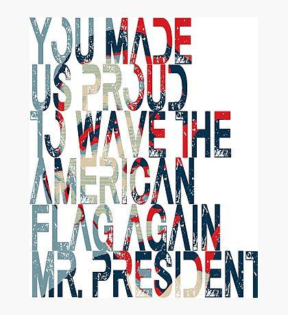 President Barack Obama. Photographic Print