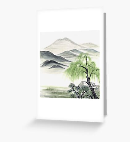 Willow by Amphai Masquelier Greeting Card