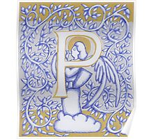 Angel Letter P Silver 2017 Poster