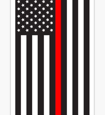 Hanging Red Line Flag: Stars on Left Sticker