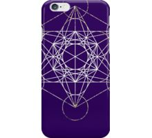Metatron's Cube [Tight Cluster Galaxy] | Sacred Geometry iPhone Case/Skin