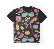 Sewing and needlework doodle pattern Graphic T-Shirt