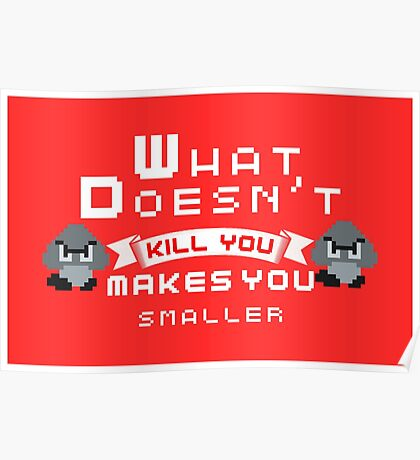What Doesnt Kill You Makes You smaller Poster