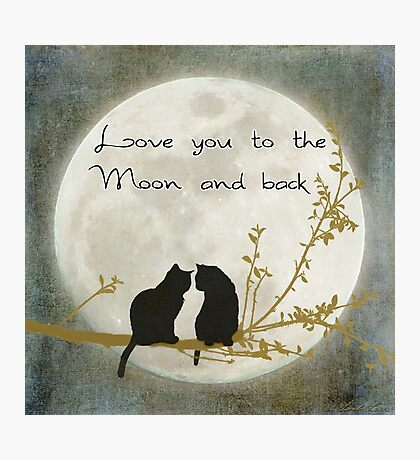 Love you to the moon and back Photographic Print