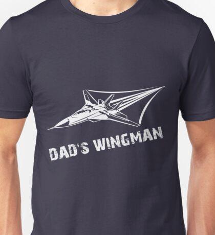Dad's Wingman Rocket Ship Son Unisex T-Shirt