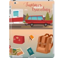 Family Vacation Time. Active Summer Holidays by Camper iPad Case/Skin