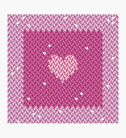 Woven Love of Hearts Photographic Print