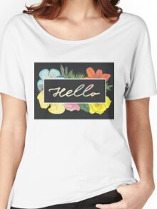Hello Flowers Women's Relaxed Fit T-Shirt