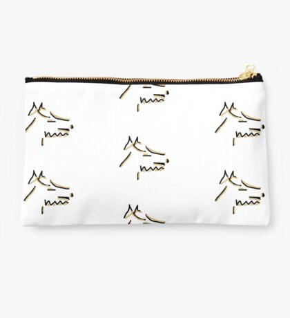 Abstract Terrier Studio Pouch