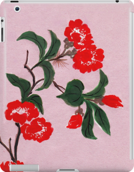 Red Flowers from Amphai by Baina Masquelier