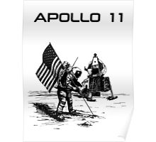 Apollo 11 - Black ink Poster