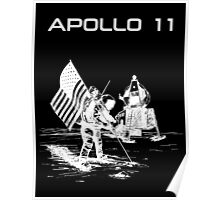 Apollo 11 - White ink Poster