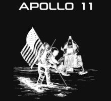Apollo 11 - White ink by Djidiouf