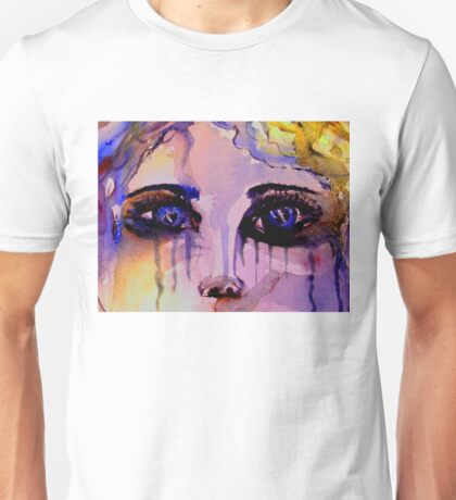 Tears down her face Unisex T-Shirt