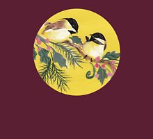 Chickadees from Amphai Womens Fitted T-Shirt