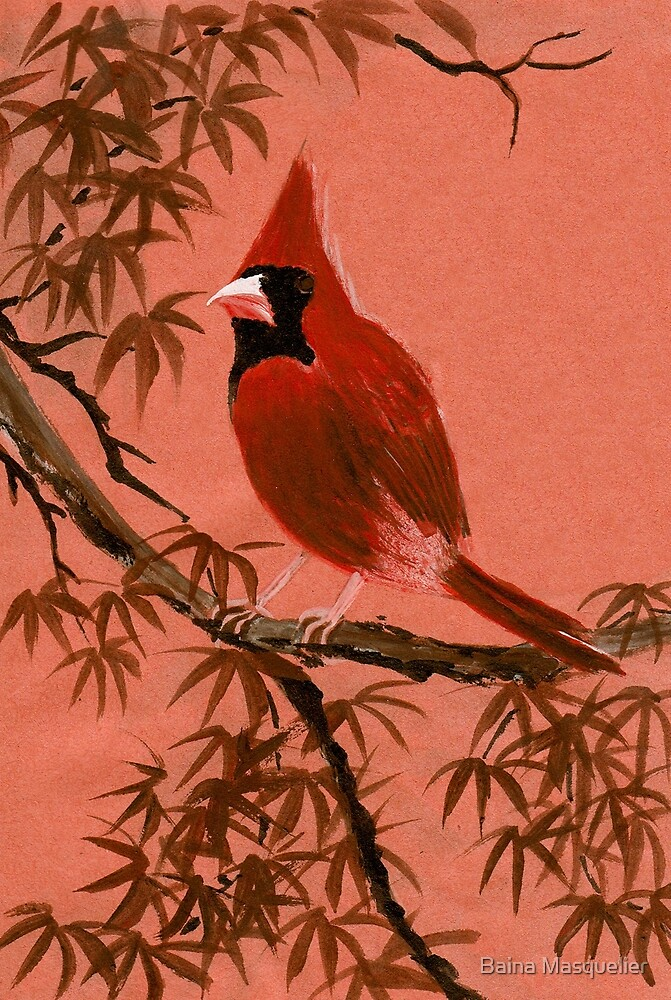 Red Cardinal from Amphai by Baina Masquelier