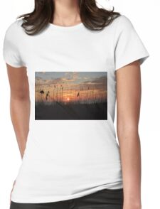 Sunset Serenity Womens Fitted T-Shirt
