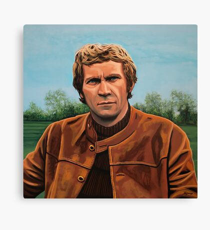 Steve McQueen Painting Canvas Print