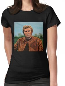 Steve McQueen Painting Womens Fitted T-Shirt