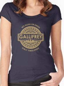Gallifrey - No Gods or Kings, only Timelords Women's Fitted Scoop T-Shirt