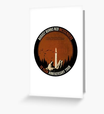 August Burns Red 10 Year Messengers Tour Greeting Card