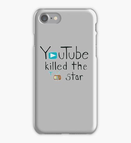YouTube Killed the TV Star iPhone Case/Skin