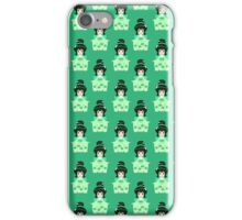 Furisode Girl Green Pattern iPhone Case/Skin