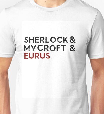 Sherlock & Mycroft & Eurus Unisex T-Shirt