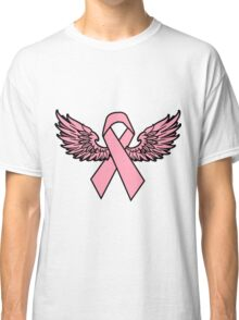 Winged Breast Cancer Awareness Ribbon Cancer Awareness Shirts Classic T-Shirt