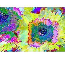 Psychodelic Flower Power Photographic Print
