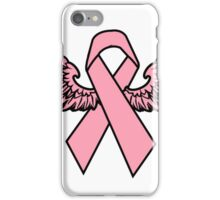 Winged Breast Cancer Awareness Ribbon Cancer Awareness Shirts iPhone Case/Skin