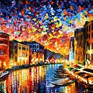 Venice Grand Canal — Buy Now Link - www.etsy.com/listing/166867582 by Leonid  Afremov