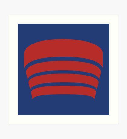 Frank Lloyd Wright Logo - NYC Guggenheim Museum Art Print