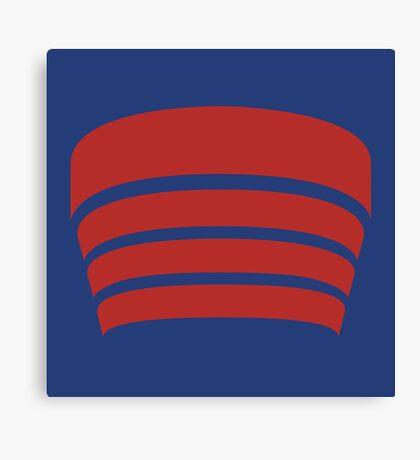 Frank Lloyd Wright Logo - NYC Guggenheim Museum Canvas Print