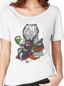 Knitting Spider Girl Yokai with Green Tea MONSTER GIRLS Series I Women's Relaxed Fit T-Shirt