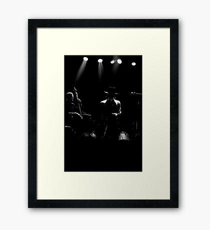 Gato Barbieri's silhouette Framed Print