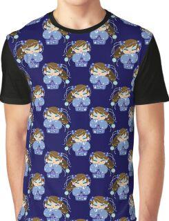 Moon Kokeshi Pattern Graphic T-Shirt