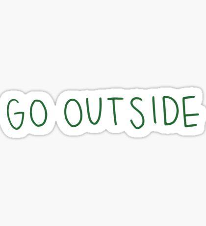go outside green Sticker